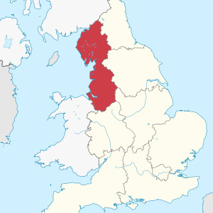 North West England Map
