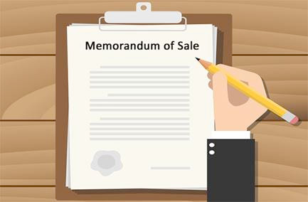 What is a Memorandum of Sale? - Image 1